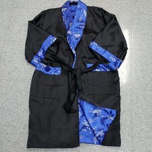 Vintage Mens Silk Chinese Robe